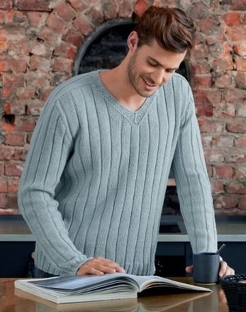 Herresweater strikkekit - M.E 05 - Cool wool big