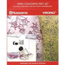 Husqvarna yarn couching feet set - 920 2150 96