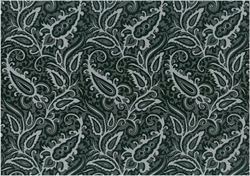 Paisley satin black
