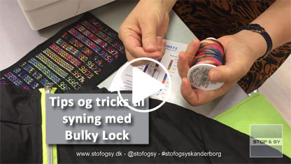 Tips og Tricks til syning med Bulky Lock fra Gütermann