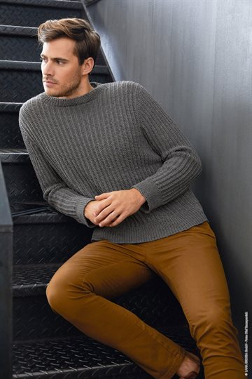 Herresweater strikkekit M.E 41 - Cool Wool