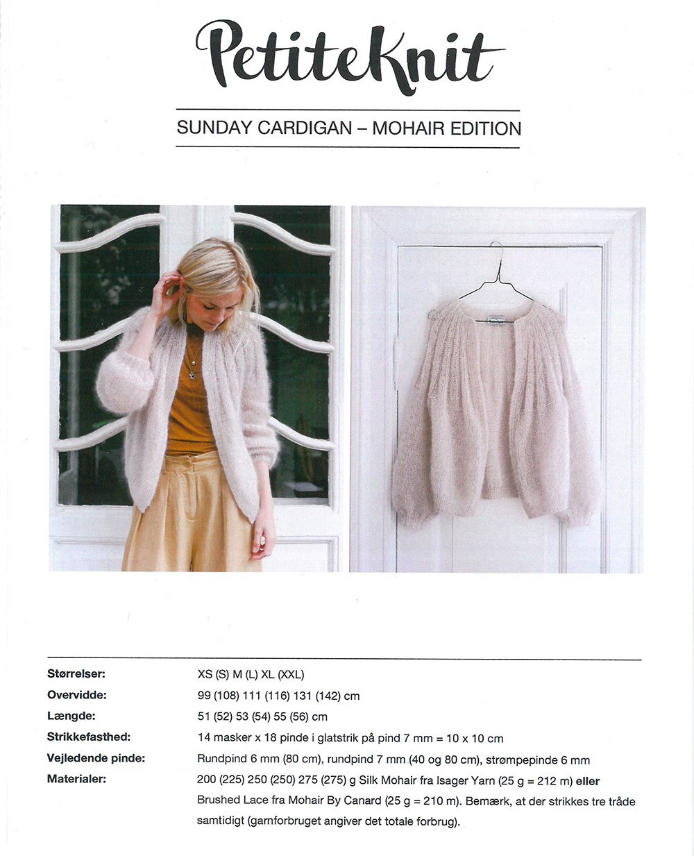 Sunday Cardigan pattern by PetiteKnit